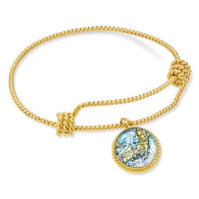 Correa/CHART Gold Rope Charm Bracelet