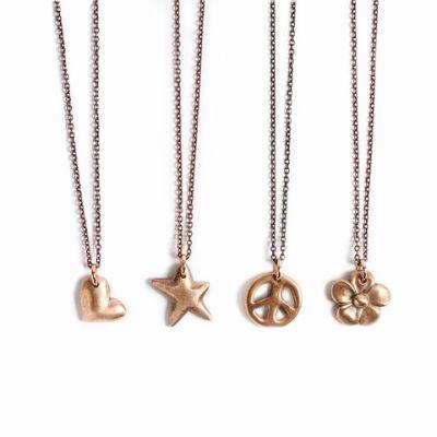 Bronze Cast Charm Necklace
