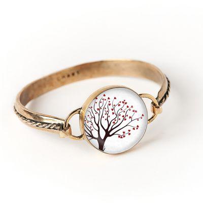 Peace & Love Bronze Hook Cord Bracelet