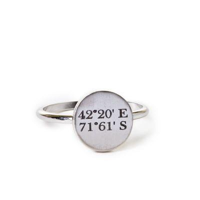 Pewter Mini Coordinates Ring