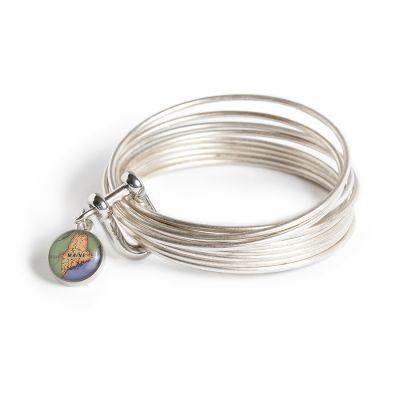 Pewter Multi Bangle Shackle Bracelet - XS Charm