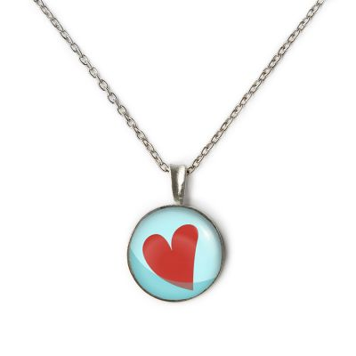 Peace & Love Pewter Extra Small Necklace