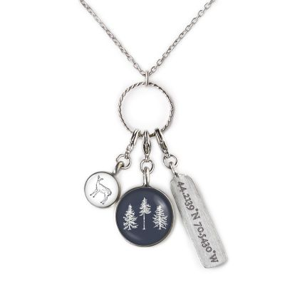 The Woods Maine 3 Charm Necklace