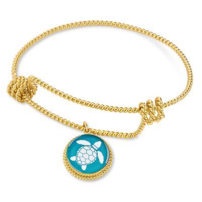 Correa/CHART Gold Sea Turtle Rope Charm Bracelet