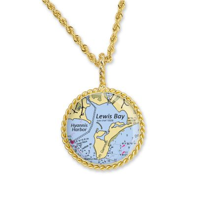 "Correa/CHART Gold 3/4"" Necklace Pendant"