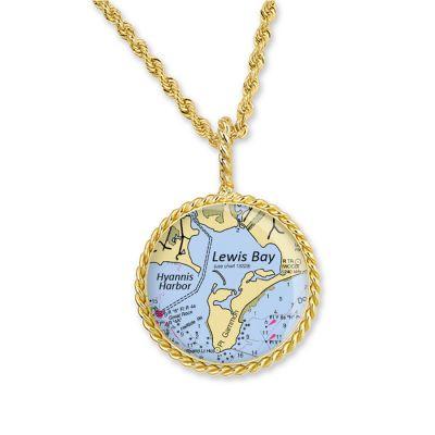"""Correa/CHART Gold 3/4"""" Necklace Pendant"""