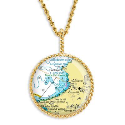 """Correa/CHART Gold 1"""" Necklace Pendant"""