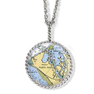 "Correa/CHART White Gold 1"" Necklace Pendant"