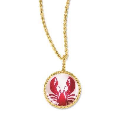 "Correa/CHART Gold 3/4"" Lobster Necklace Pendant"