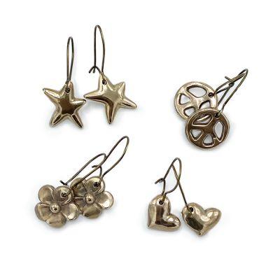Bronze Cast Dangle Earrings