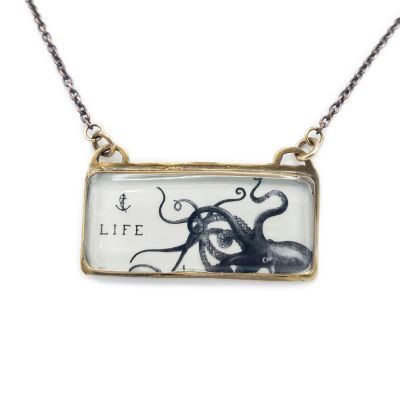 Bronze Longitude Kraken Necklace