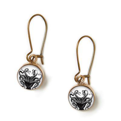 Bronze Mini Dangle Earrings