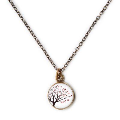 Peace & Love Bronze Mini Necklace