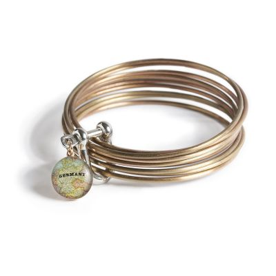 Bronze Multi Bangle Shackle Bracelet - XS Charm
