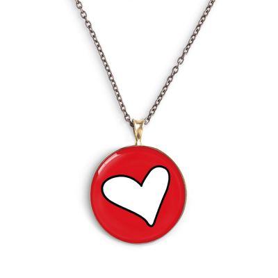 Peace & Love Bronze Small Necklace