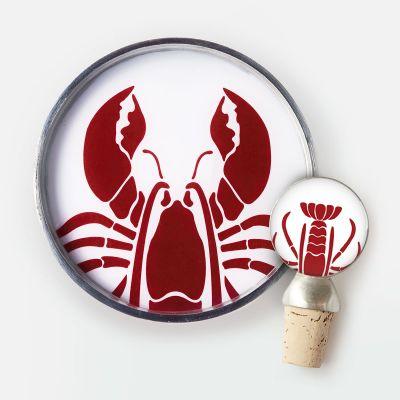 Lobster Wine Bottle Coaster/Stopper Gift Set