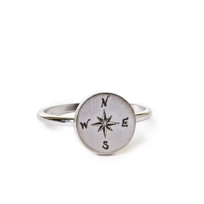 Pewter Mini Compass Ring