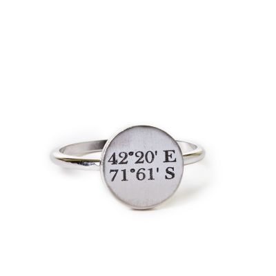 Pewter Mini Coordinates Ring