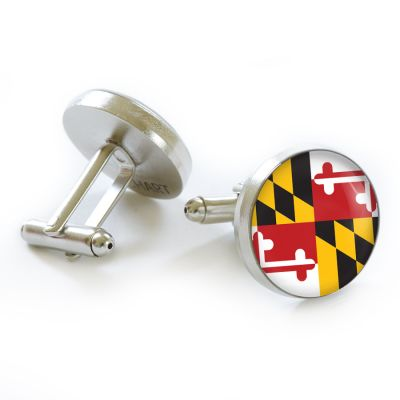 Flag Pewter Cufflinks