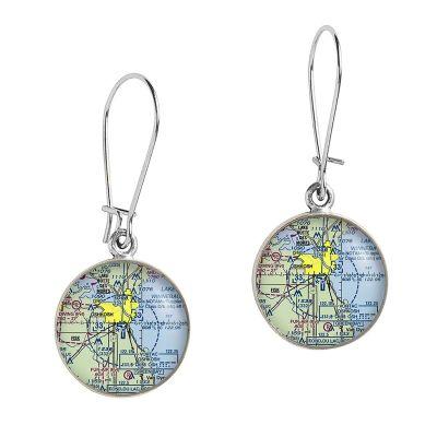 Aeronautical Pewter Dangle Earrings