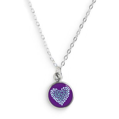 Peace & Love Pewter Mini Necklace