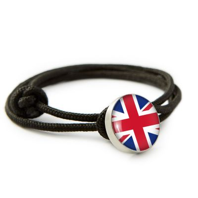 Flag Pewter Rope Bracelet