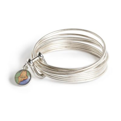 Pewter Multi Bangle Shackle Bracelet - XS Charm