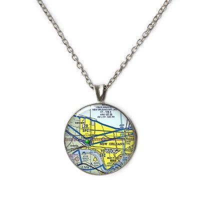 Aeronautical Pewter Small Necklace
