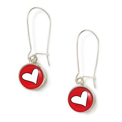 Peace & Love Silver Mini Dangle Earrings
