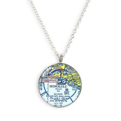 Aeronautical Silver Small Necklace