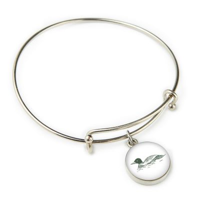 The Woods Maine Pewter Expandable Bangle