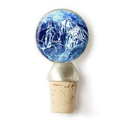 Ski Mountain Wine Stopper